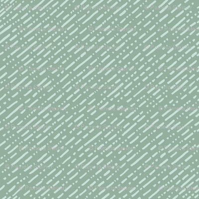 Dot Dot Dash Linear Diagonal Repeat - Teal