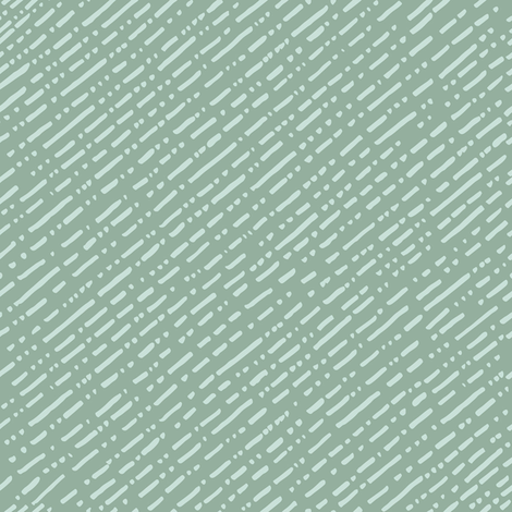 Dot Dot Dash Linear Diagonal Repeat - Teal fabric by ps:hello_studio on Spoonflower - custom fabric