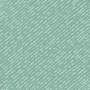 Dot Dot Dash Linear Diagonal Repeat - Teal