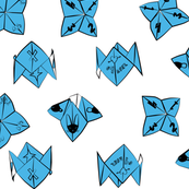 cootie catchers (blue)