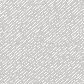 Dot Dot Dash Linear Diagonal Repeat - Warm Grey