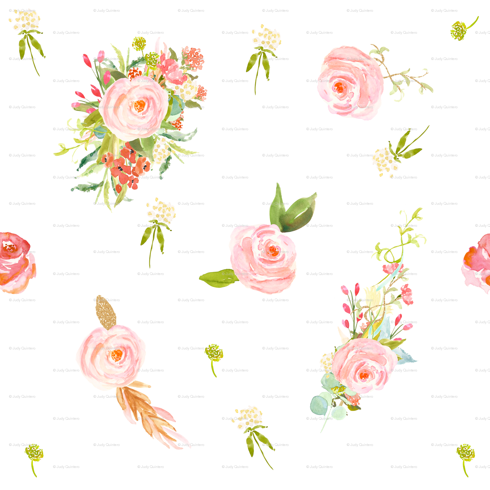 sweet flowers wallpaper - shopcabin - spoonflower
