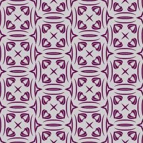 Purple Hearts on Mauve