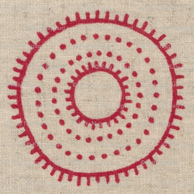 dotted circle in red