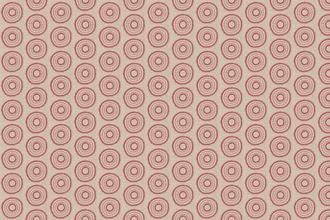 dotted circle in red fabric by fiberdesign on Spoonflower - custom fabric