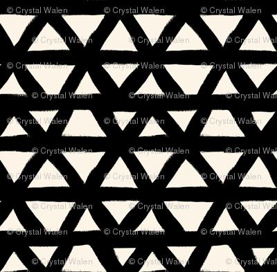 Black and White Triangle Geometric
