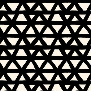 Black and White Triangle Geometric