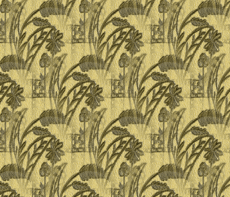 Garden in Autumn - Large fabric by atlas_&_tootsie on Spoonflower - custom fabric