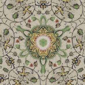 Medieval Kaleidoscope 1 - Vines and Buds