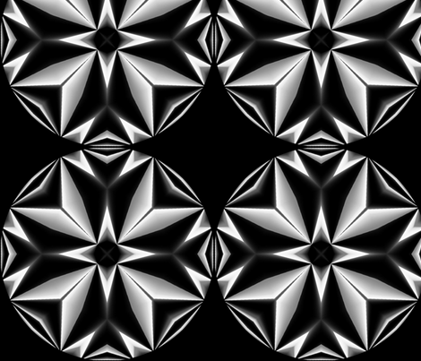 Black and White Beauty fabric by charldia on Spoonflower - custom fabric