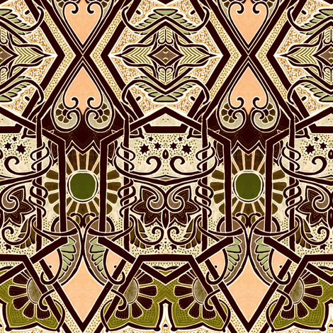 Paisley Star Worlds fabric by edsel2084 on Spoonflower - custom fabric