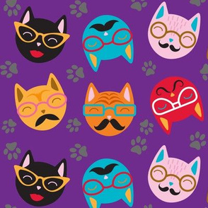 Cat Lover Funny Retro Cats
