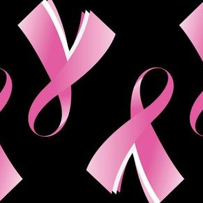 Breast Cancer Pink Ribbon on Black background