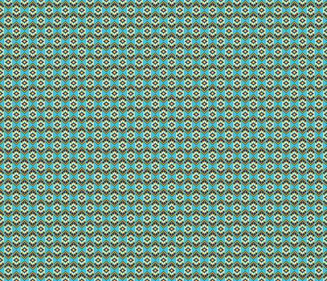Native American Digital Bead Pattern Turquoise fabric by khaus on Spoonflower - custom fabric