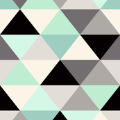 Black and white Triangle Geometric Mint