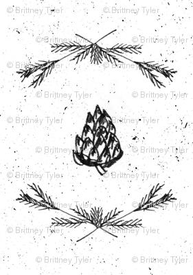 Winter Elements Fabric
