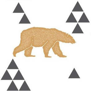 Geometric Bear in Gold