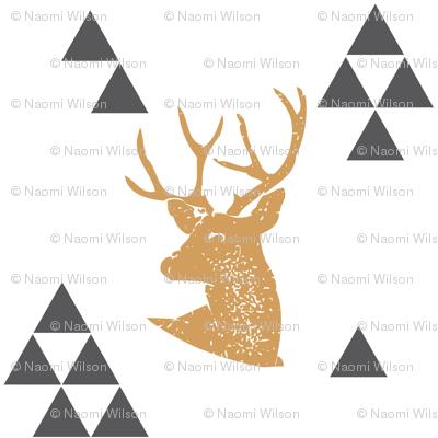 Geometric Deer in Gold