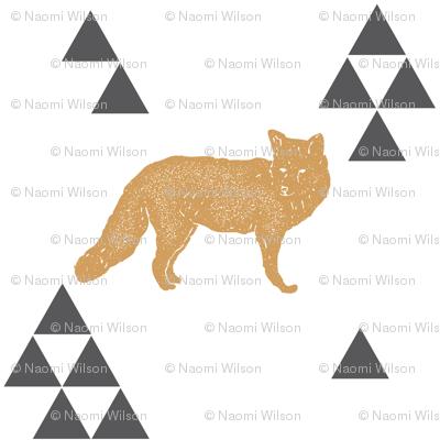 Geometric Fox in Gold