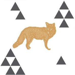 Geometric Fox in Gold