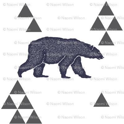 Geometric Bear in Navy