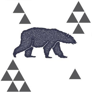 Geometric Bear in Navy