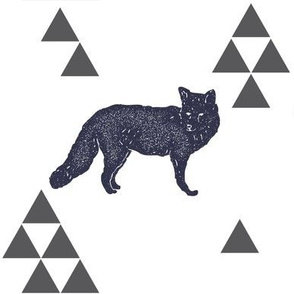 Geometric Fox in Navy