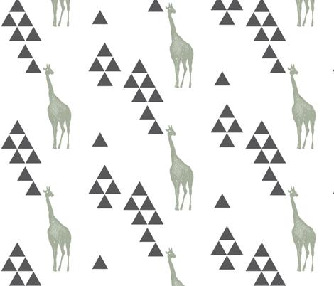 Geometric Giraffe in Sage fabric by bella_modiste on Spoonflower - custom fabric
