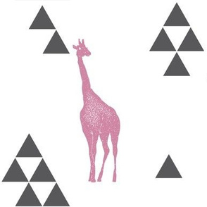 Geometric Giraffe in Pink