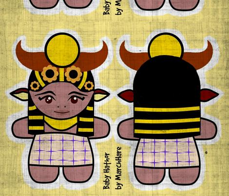 Baby Hathor fabric by marchhare on Spoonflower - custom fabric