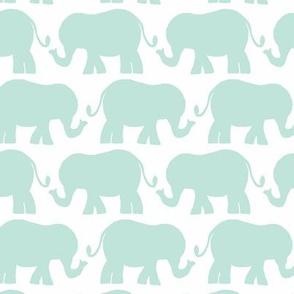elephant light teal