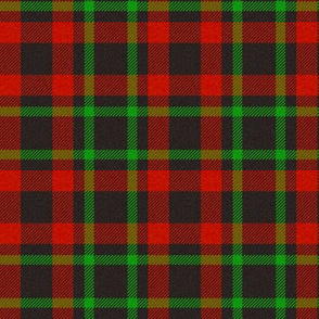 Black/Green/Red Plaid