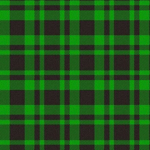 Black/Green Plaid
