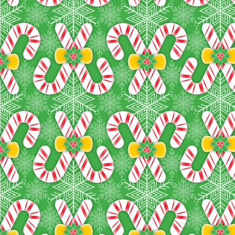 Candy Canes fabric by jjtrends on Spoonflower - custom fabric