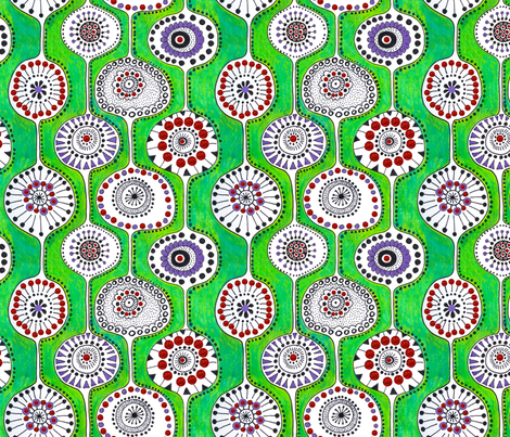 Garland fabric by bunyipdesigns on Spoonflower - custom fabric