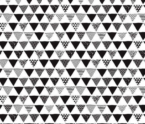a356b38c4ba49 Geometric tribal aztec triangle black and white gender neutral modern  patterns fabric by littlesmilemakers on Spoonflower