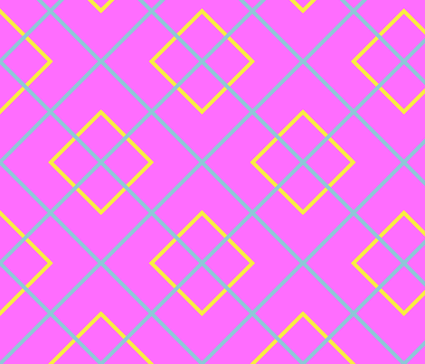 Dean's Yellow and Blue on Pink fabric by midcoast_miscellany on Spoonflower - custom fabric