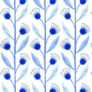 Blue Floral Vines