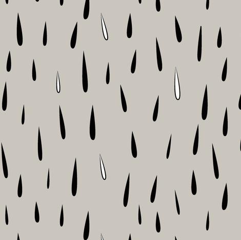 rain rain (black and tan) fabric by eleventy-five on Spoonflower - custom fabric