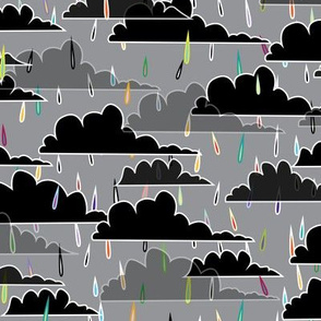 rain(bow) clouds (grey background)