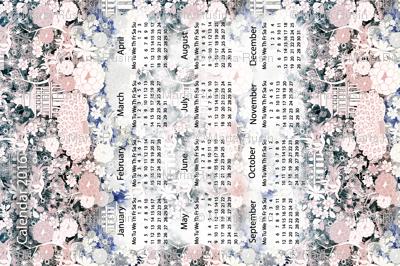 Japanese teahouse calendar 2016