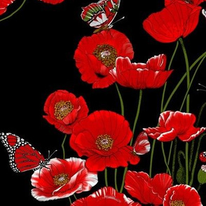RED_Poppies_on_Black