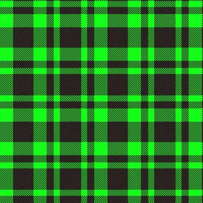 Black/Kelly Green Plaid