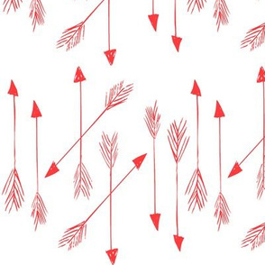 arrows in red