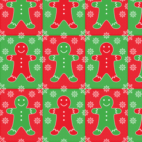 Jolly Gingerbread fabric by jjtrends on Spoonflower - custom fabric