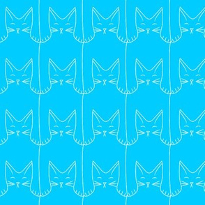 kitties (blue background)