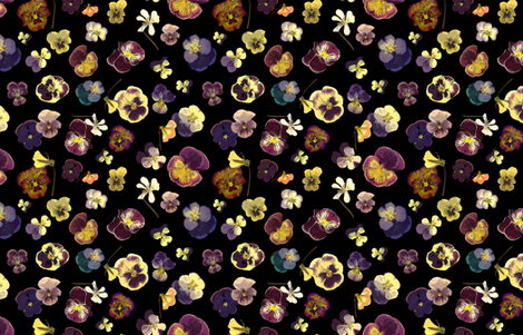 Glowing Pansys fabric by mypetalpress on Spoonflower - custom fabric