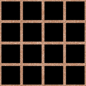 Rose Gold Grid on Black
