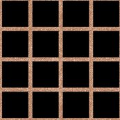 Rose Gold Grid On Black Wallpaper Sylviaoh Spoonflower