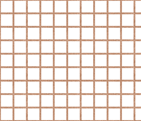Rose Gold Grid on White fabric by sylviaoh on Spoonflower - custom fabric